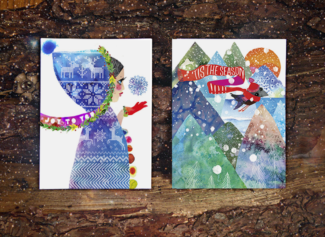 New Holiday Cards by Masha D'yans
