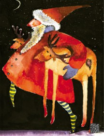 sleepingdeer santa