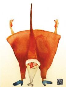 upsidedown santa