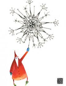 big snowflake santa