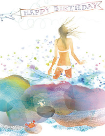 B18 beach rocks birthday masha dyans watercolor greeting card