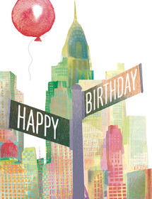 B24 NY birthday sign masha dyans watercolor greeting card