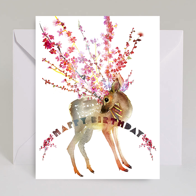 B33-fawn-cherry-branches-birthday-watercolor-masha-dyans
