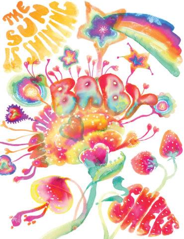 psychedelic baby watercolor masha dyans