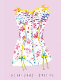 strong corset watercolor masha dyans