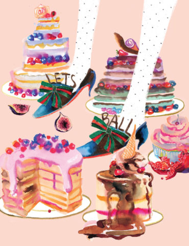 ball cake shoes watercolor masha dyans