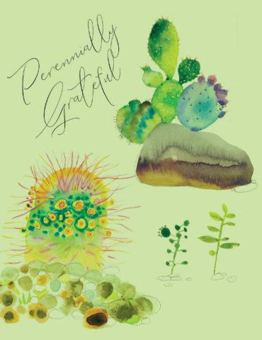 cactus thanks watercolor masha dyans