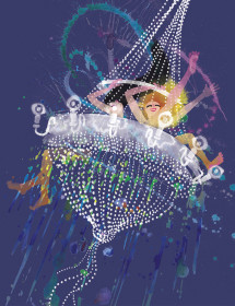 Chandelier Party watercolor greeting card by Masha D'yans
