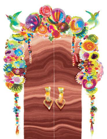decorated love doors watercolor masha dyans