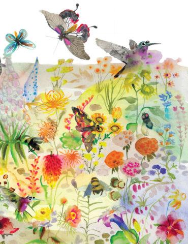 flower field watercolor masha dyans