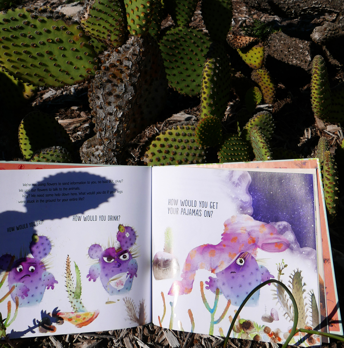 Flower Talk book by Masha D'yans in succulents