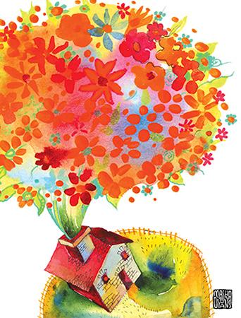 G15 bloom home masha dyans watercolor greeting card