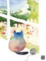 G38 window cat garden yarn miss you masha dyans watercolor greeting card