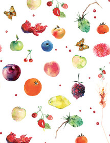 G55 fruits pattern masha dyans watercolor greeting card