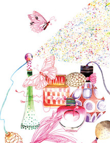 G61 perfumes butterfly galina sokolova watercolor greeting card