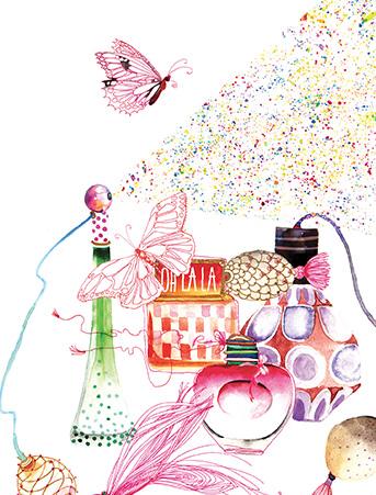 G61 perfumes butterfly galina sokolova watercolor greeting card