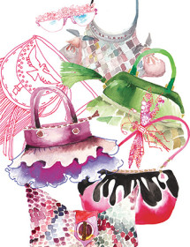 G62 accessories purses galina sokolova watercolor greeting card