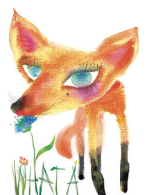 G65 fox masha dyans watercolor greeting card