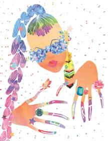 G77 party nails punk girl hair candy gems masha dyans