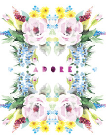 adore roses masha dyans watercolor greeting card
