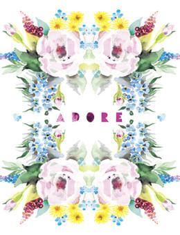adore roses masha dyans watercolor greeting card