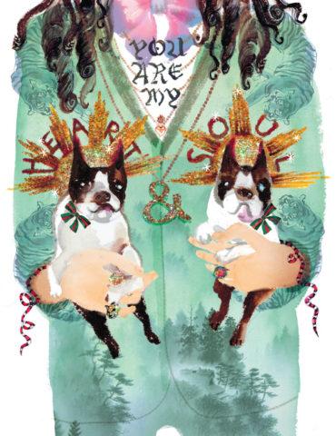 heart soul dogs watercolor masha dyans Alessandro Michele