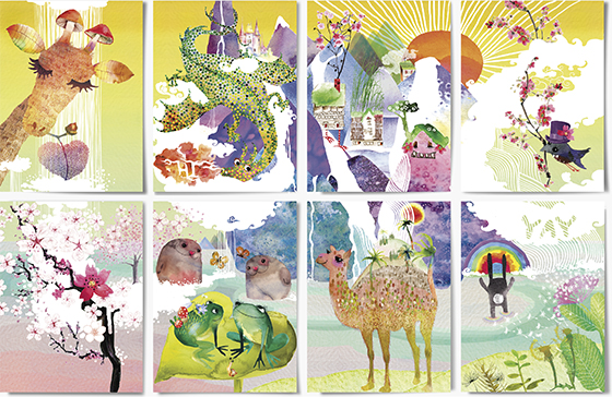 LoveLand are collectible cards by Masha D'yans that together complete a fun fairyland.