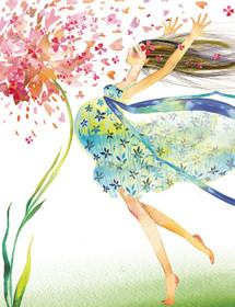 Prego flower masha dyans watercolor greeting card