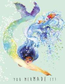 You MerMADE watercolor greeting card by Masha D'yans