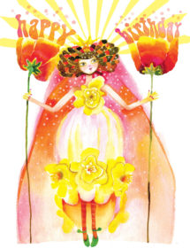 birthday 2flower fairy watercolor masha dyans