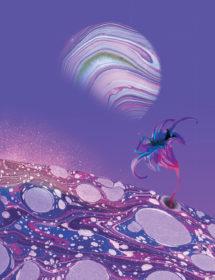 purple planet watercolor masha dyans