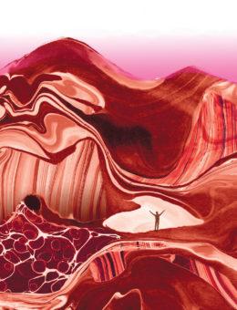 redscape canyon watercolor masha dyans