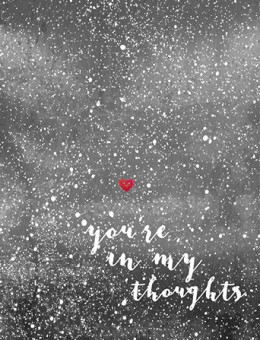 Starry Thoughts - Sympathy watercolor greeting card by Masha D'yans.