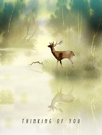 Fog Buck evokes the beauty and fragility of nature for a difficult occasion. Send them love, strength and beauty with this Masha D'yans sympathy card.