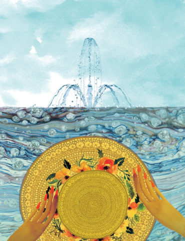 hat fountain watercolor masha dyans