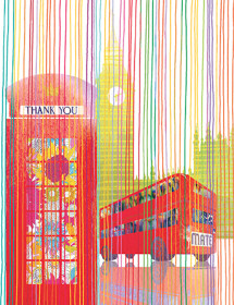 T08 london thanks bus phone masha dyans watercolor greeting card