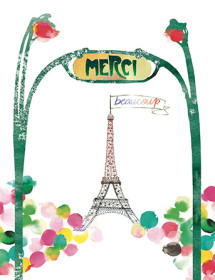 T09 paris merci masha dyans watercolor greeting card