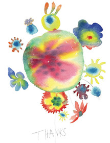 T10 blob flowers thanks masha dyans watercolor greeting card