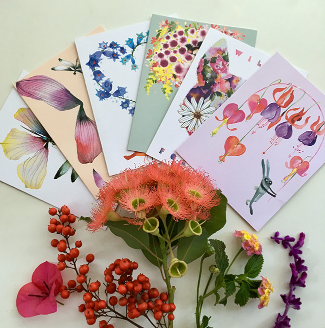 A bouquet of Valentine's Day watercolor cards!
