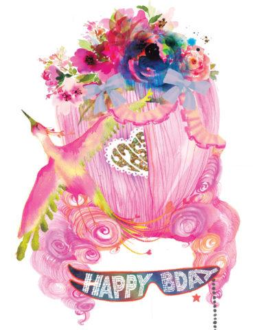 birthday marie Antoinette wig watercolor masha dyans