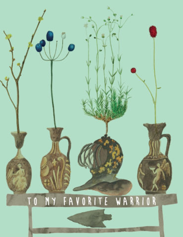 WRR1-warrior-vases-masha-dyans-watercolor-greeting-card