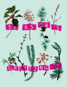 Winter Herbs watercolor masha dyans watercolor holiday card