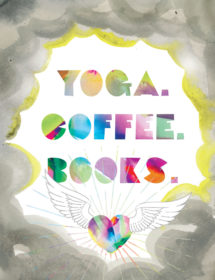 yoga coffee books watercolor masha dyans
