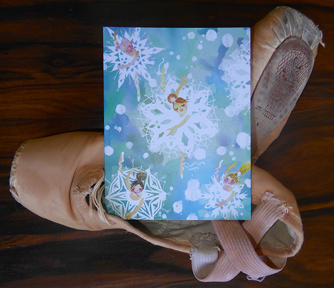 New Holiday Cards! snowflake ballerinas by Masha D'yans