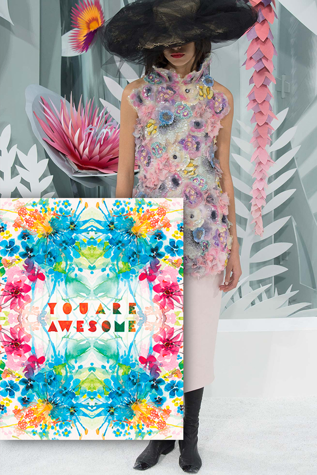 Inspiration Couture Masha D'yans watercolor greeting card