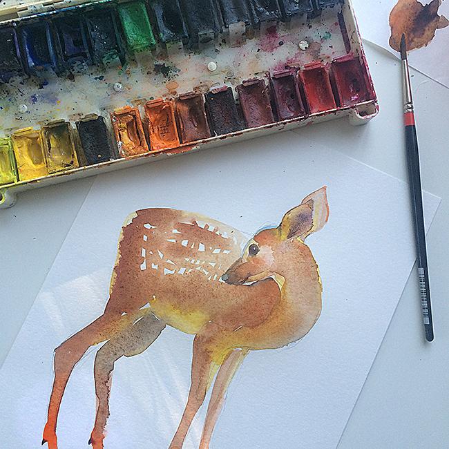 fawn-watercolor-process-masha-dyans