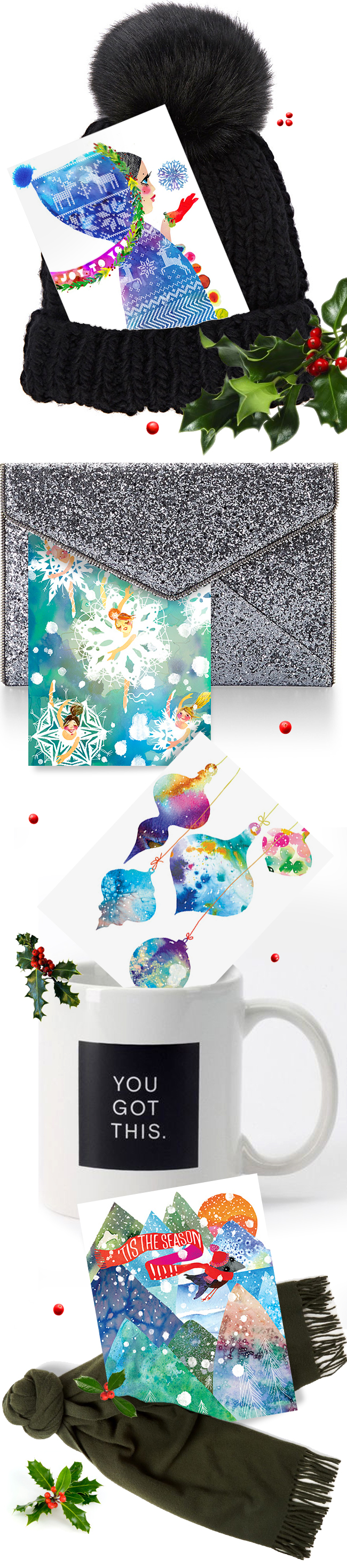 Colorful cards and elegant gifts from Masha D'yans