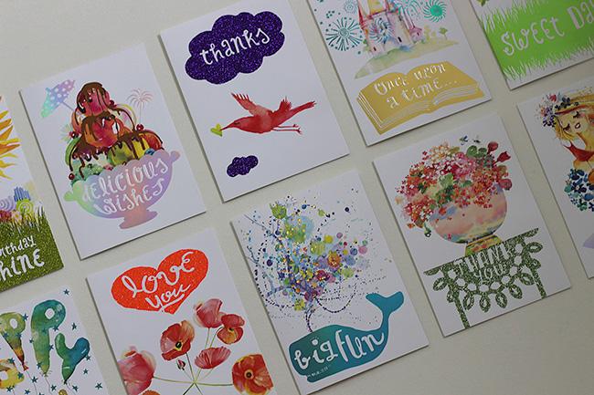 Masha Dyans greeting cards for Target
