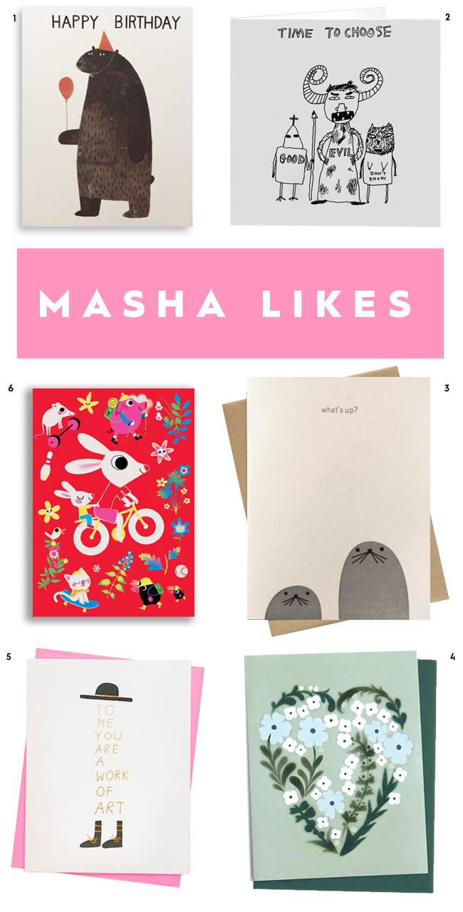 masha likes cards