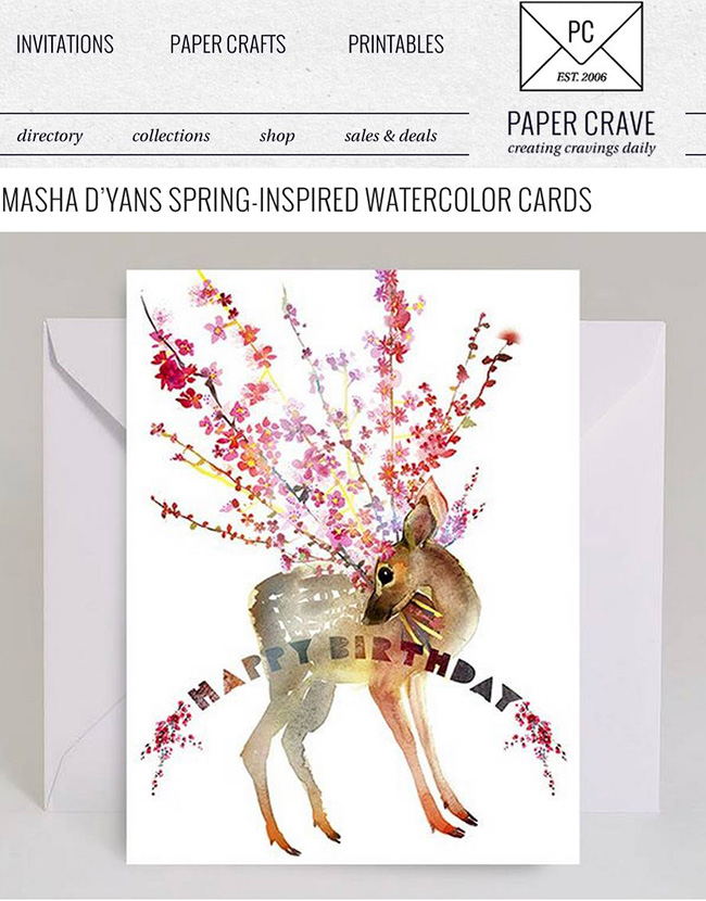 Masha cards on Paper Crave